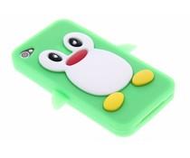 Groen pinguin siliconen hoesje iPhone 4(s)