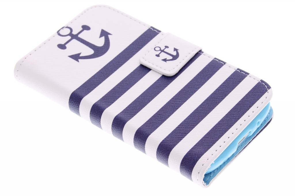 Anker design TPU booktype hoes voor de Samsung Galaxy Core