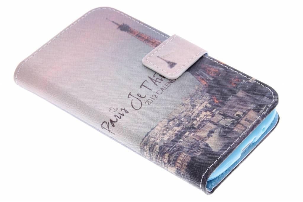 Parijs design TPU booktype hoes voor de Samsung Galaxy Core