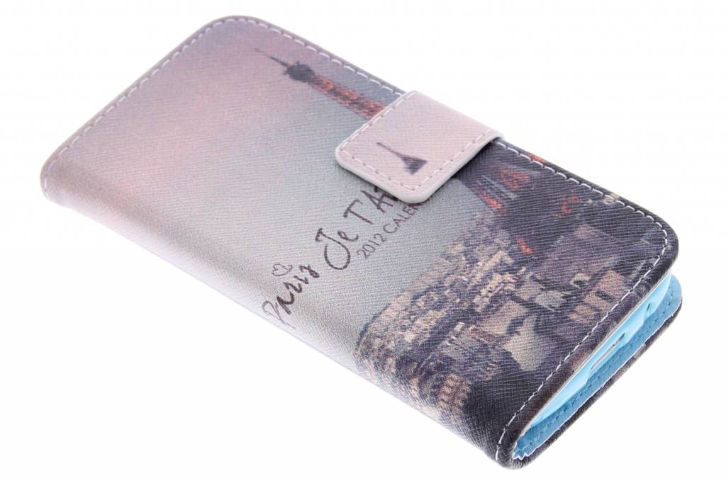Parijs design TPU booktype hoes voor de Samsung Galaxy S4 Mini