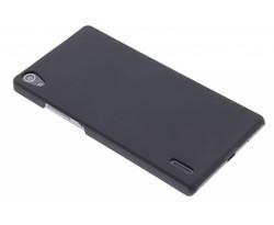 Zwart effen hardcase hoesje Huawei Ascend P7