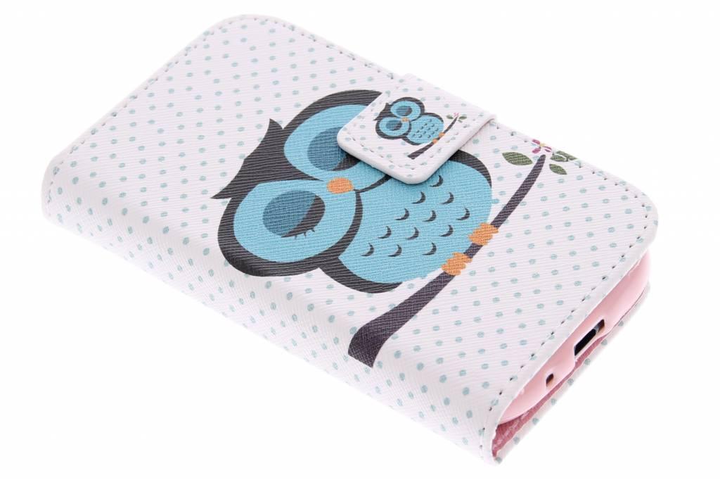 Uiltjes design TPU booktype hoes voor de Samsung Galaxy Ace 2