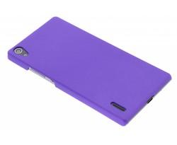 Paars effen hardcase hoesje Huawei Ascend P7