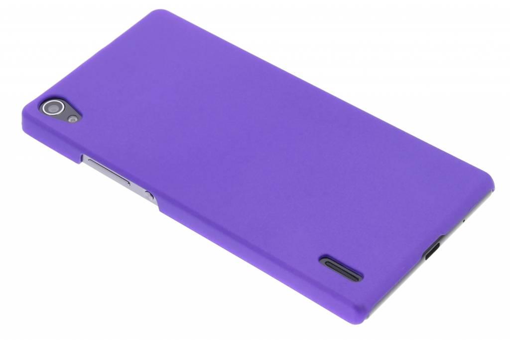Paars effen hardcase hoesje voor de Huawei Ascend P7