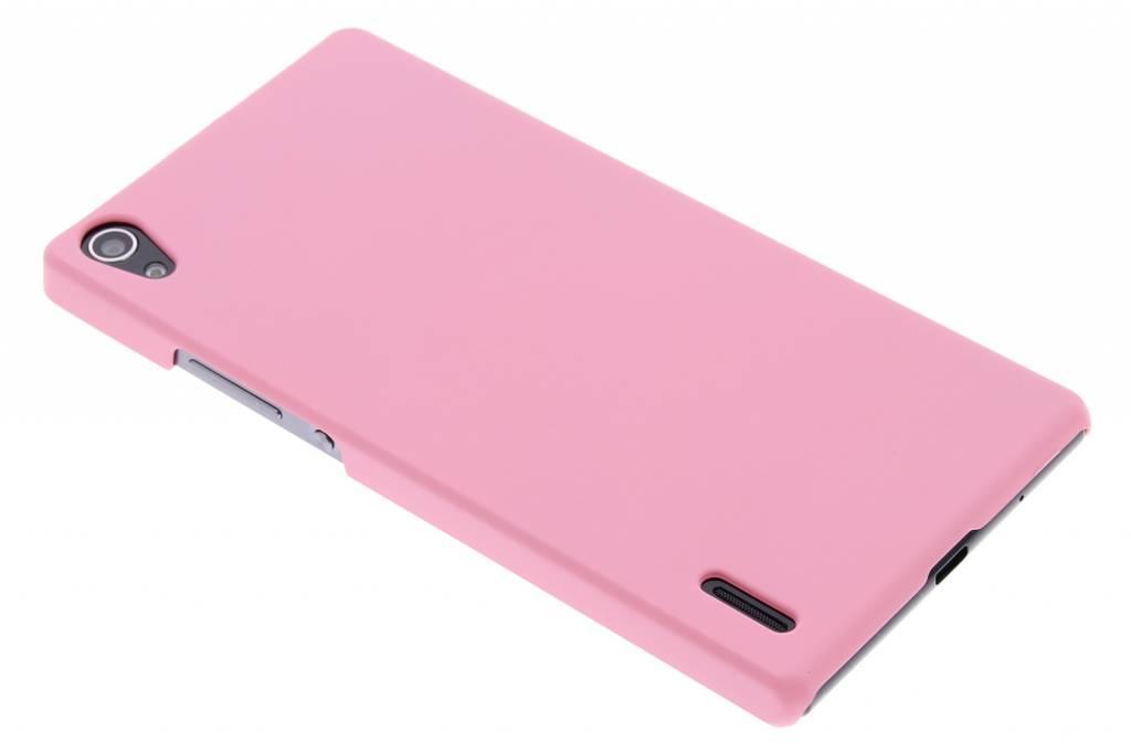 Roze effen hardcase hoesje voor de Huawei Ascend P7