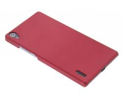 Rood effen hardcase hoesje Huawei Ascend P7