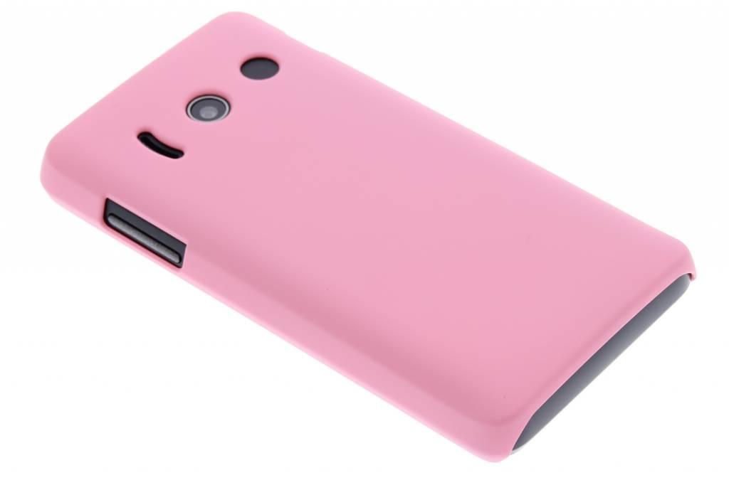Roze effen hardcase hoesje voor de Huawei Ascend Y300