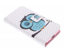 Design TPU booktype hoes Samsung Galaxy Ace 4
