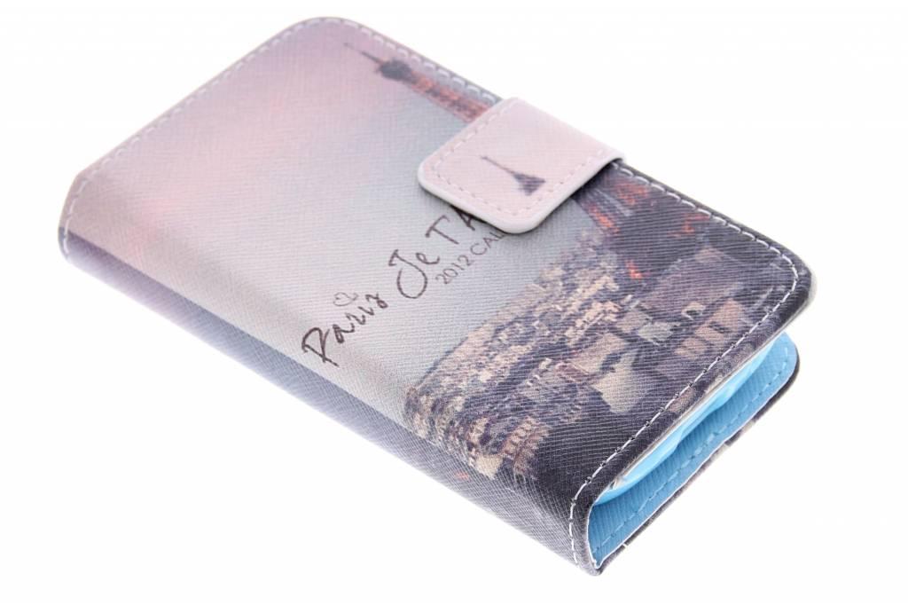 Parijs design TPU booktype hoes voor de Samsung Galaxy Young