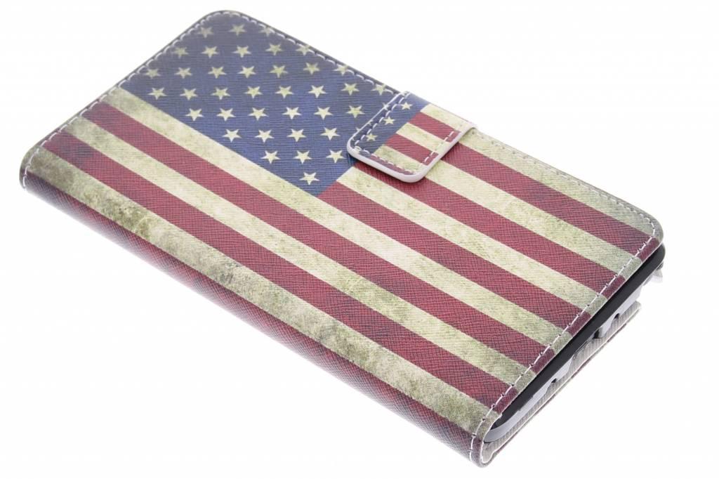 Amerikaanse vlag design design TPU booktype hoes voor de Samsung Galaxy Note 4