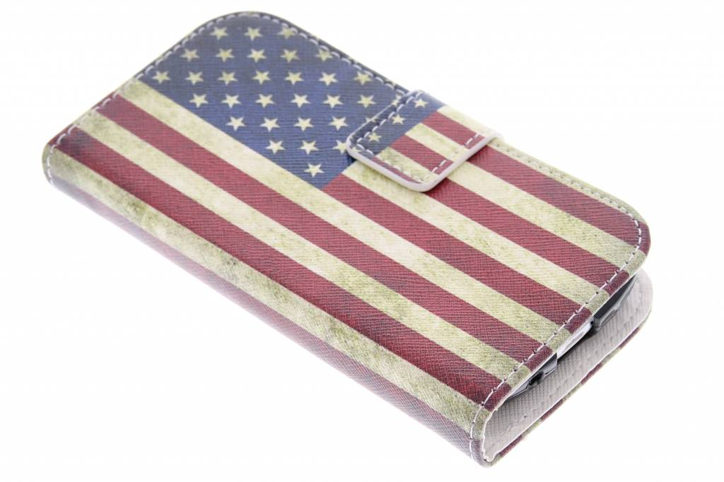 Amerikaanse vlag design TPU booktype hoes Samsung Galaxy S3 Mini