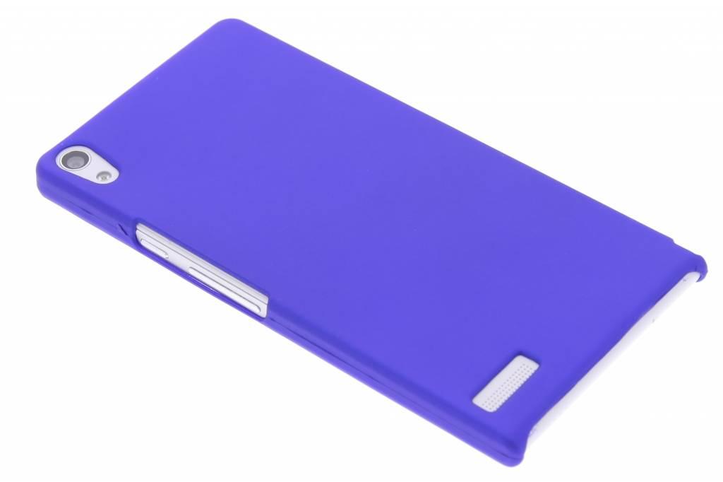 Blauw effen hardcase hoesje voor de Huawei Ascend P6 / P6s