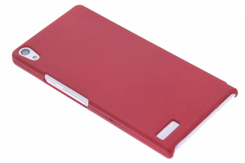Rood effen hardcase hoesje voor de Huawei Ascend P6 / P6s