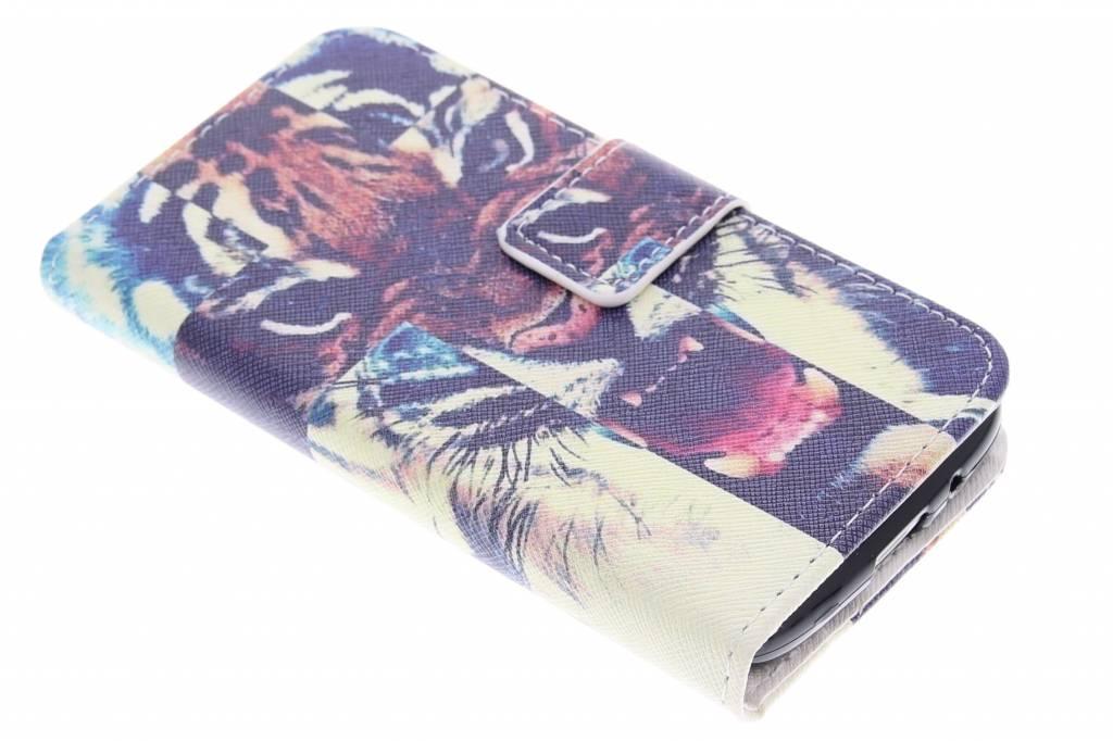 Tijger design TPU booktype hoes voor de Samsung Galaxy Core