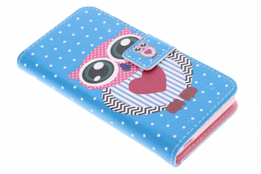 Uil design TPU booktype hoes voor de Sony Xperia Z3 Compact