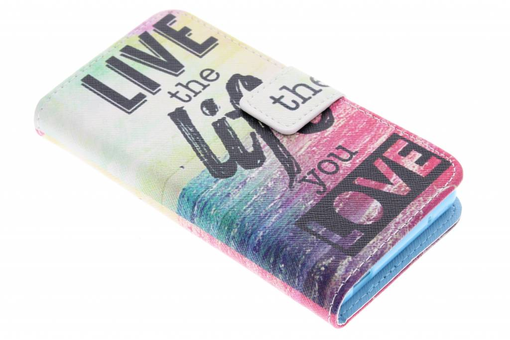 Live the life design TPU booktype hoes voor de Sony Xperia Z3 Compact