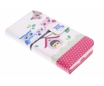 Design TPU booktype hoes LG G2 Mini