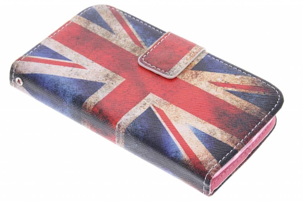 Britse vlag design TPU booktype hoes voor de LG G2 Mini