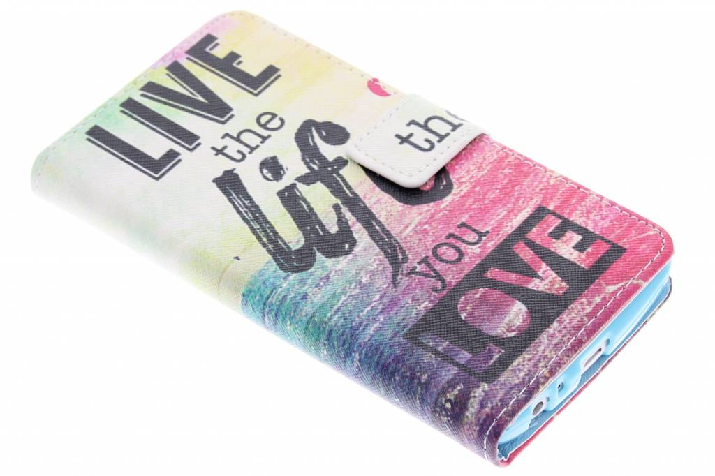 Live the life design TPU booktype hoes voor de LG G3