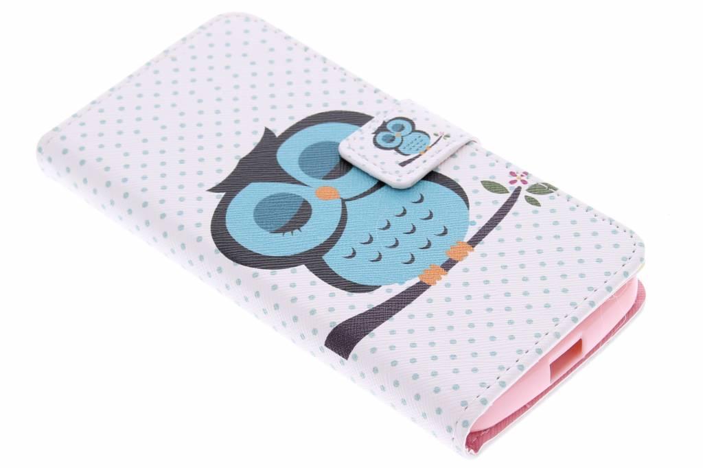 Uil design TPU booktype hoes voor de Motorola Moto G 2nd Gen 2014