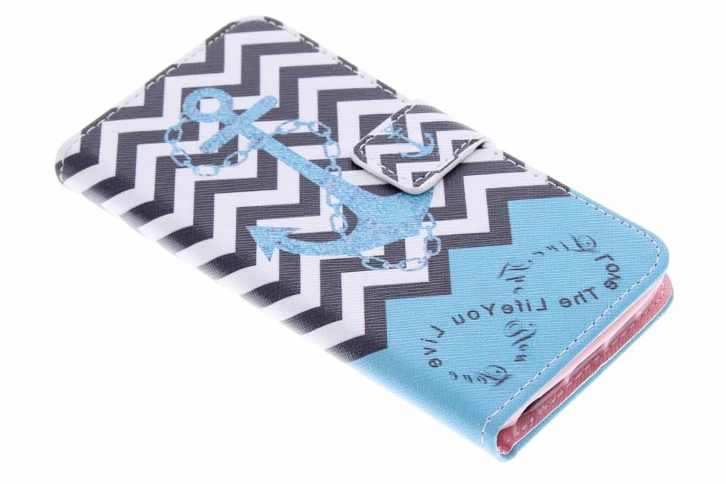 Anker design TPU booktype hoes voor de LG G2