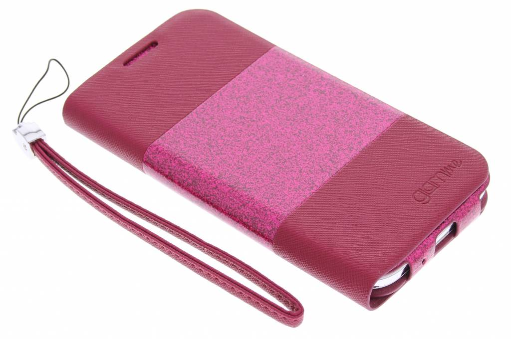 Celly Glitty booktype hoes voor de Samsung Galaxy S4 - roze