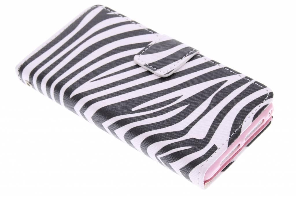 Zebra design TPU booktype hoes voor de Sony Xperia Z1 Compact