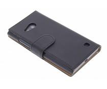 Zwart effen booktype hoes Nokia Lumia 730 / 735