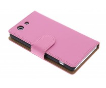 Roze effen booktype hoes Sony Xperia Z3 Compact