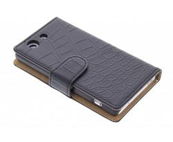 Zwart krokodil booktype hoes Sony Xperia Z3 Compact