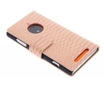 Roze slangen booktype Nokia Lumia 830
