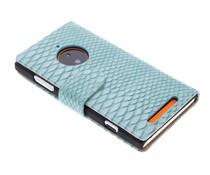 Turquoise slangen booktype Nokia Lumia 830
