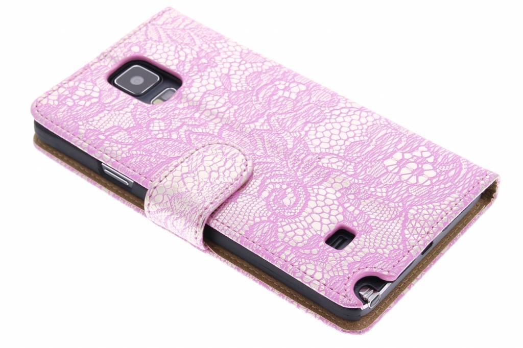 Roze glamour design booktype hoes voor de Samsung Galaxy Note 4