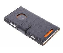 Zwart krokodil booktype Nokia Lumia 830