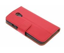 Rood effen booktype hoes Motorola Moto G 2nd Gen 2014