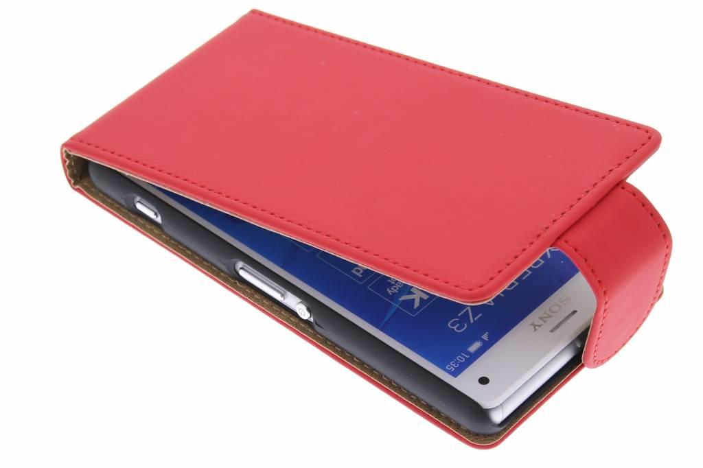 Rode classic flipcase voor de Sony Xperia Z3 Compact