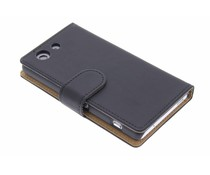 Zwart effen booktype hoes Sony Xperia Z3 Compact