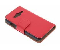 Rood effen booktype Samsung Galaxy Trend 2 (Lite)