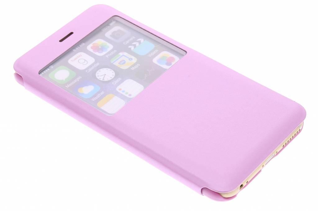Roze stijlvolle slim booktype hoes voor de iPhone 6(s) Plus