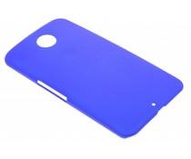 Blauw effen hardcase hoesje Motorola Nexus 6