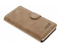 Bruin luxe suède booktype hoes iPhone 6(s) Plus