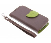 Blad design TPU booktype hoes Samsung Galaxy S3 Mini