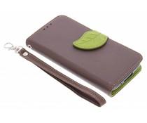 Blad design TPU booktype hoes Samsung Galaxy S5 Mini