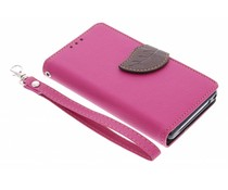Blad design TPU booktype hoes Sony Xperia Z1 Compact