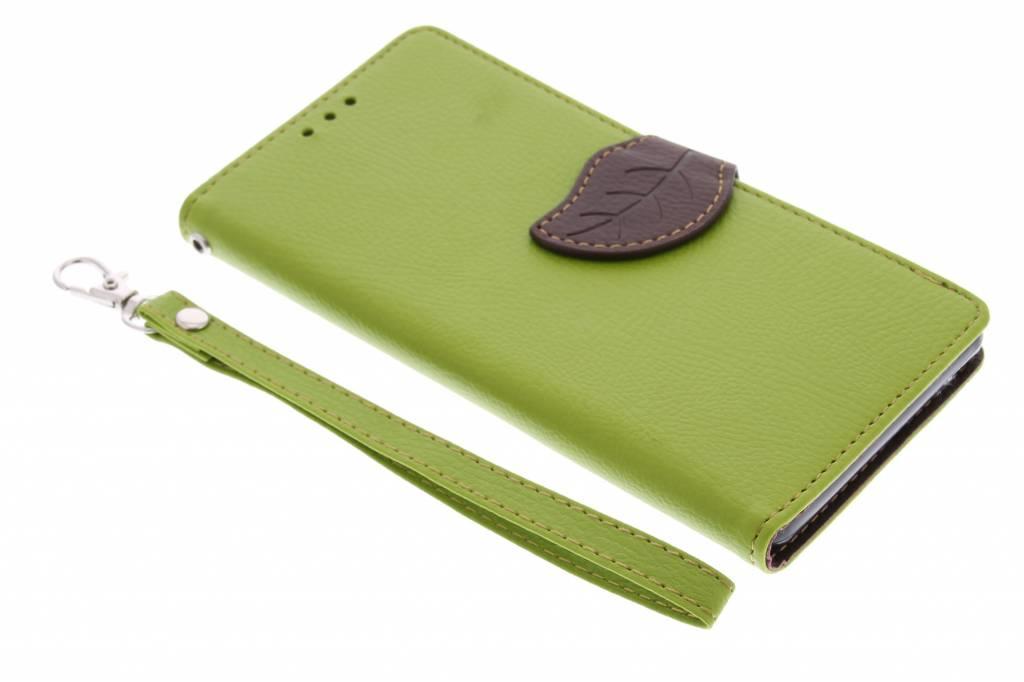 Groene blad design TPU booktype hoes voor de Sony Xperia Z3