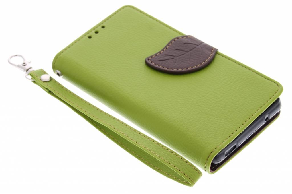 Groene blad design TPU booktype hoes voor de Sony Xperia Z3 Compact