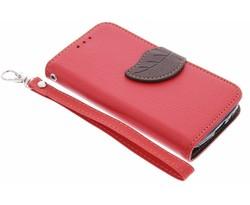 Blad design TPU booktype hoes Samsung Galaxy S4 Mini
