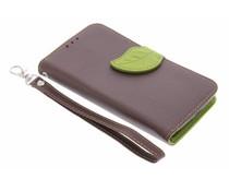 Blad design TPU booktype hoes Nokia Lumia 630 / 635