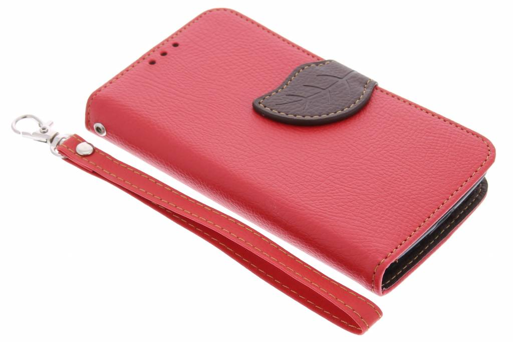 Rode blad design TPU booktype hoes voor de Nokia Lumia 630 / 635