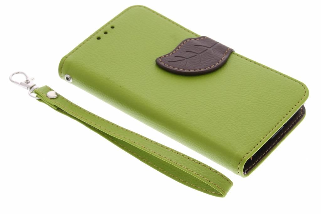 Groene blad design TPU booktype hoes voor de Nokia Lumia 630 / 635
